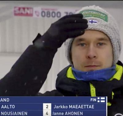 You won't want to look away from this charming GIF of Finnish skiers - and it will get you extra psyched for the Winter Olympics