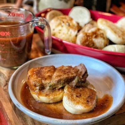 Instant Pot Pork & Bread Dumplings