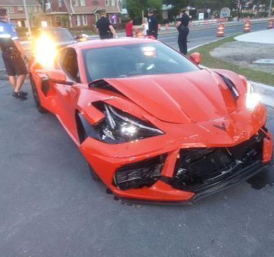 One Day Old 2020 Chevrolet Corvette C8 Crashed in Florida