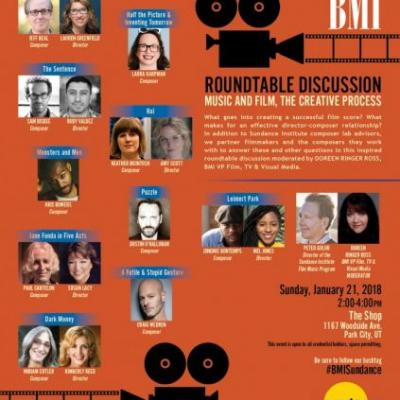 Events: 20th Annual Composer/Director Roundtable Sundance: Park City, UT