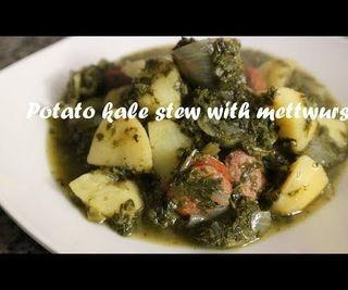 Potato Kale Stew With Mettwurst Recipe