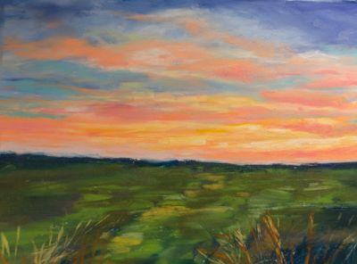 """Late Afternoon Sky"" Pastel by Judy Wilder Dalton"