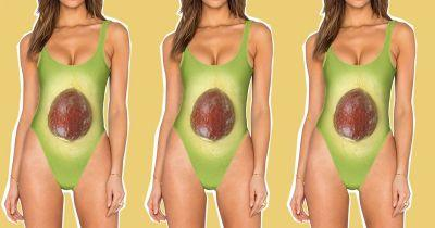 Of course you can buy a swimsuit that make you look like an avocado
