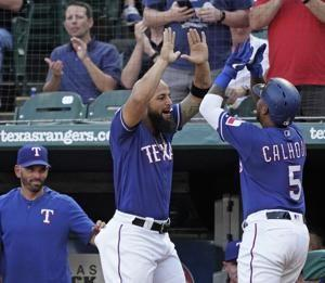 Pence 3 RBIs for Texas, another last-AB win against Angels