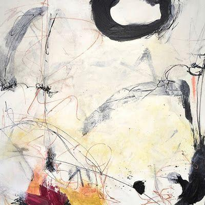 """Contemporary Abstract Expressionist Painting, """"New Year"""" by Abstract Artist Pamela Fowler Lordi"""