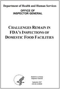 Office of Inspector General: FDA - Needs to Inspect US Food Facilities More