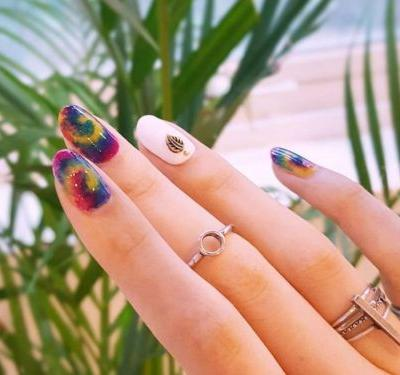 The Tie-Dye Manicure Is The Grooviest Nail-Art Trend Of 2019