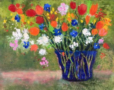 """Contemporary Impressionist Floral, """"Favorite Bouquet,"""" Amy Whitehouse"""