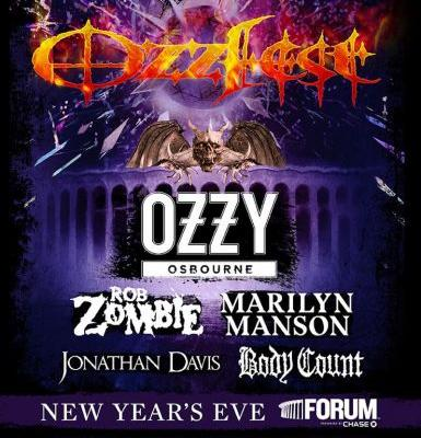 Ozzfest New Year's Eve in L.A. to feature Ozzy Osbourne, Rob Zombie, Marilyn Manson and more