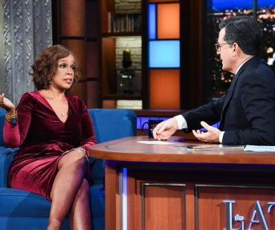Gayle King 'winced' at Stephen Colbert's Charlie Rose jokes, but sat for an interview anyway