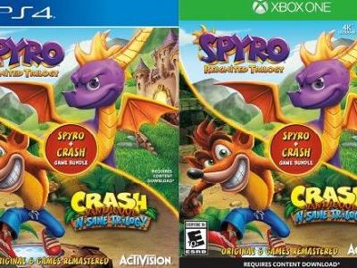 Spyro Reignited Trilogy and Crash Bandicoot N. Sane Trilogy Bundle Listed By Retailers