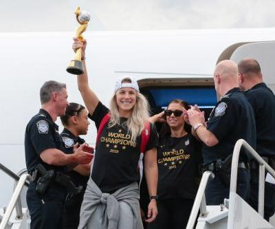 US Women's World Cup champions arrive home ahead of victory parade