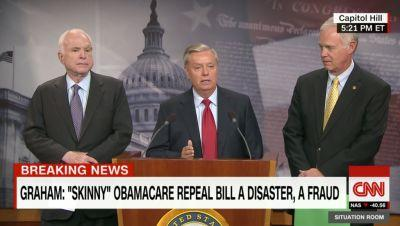 GOP senators hold press conference to demand assurances that GOP health plan does not become law
