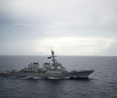 US destroyer challenges China in the South China Sea just days after US bombers rip past