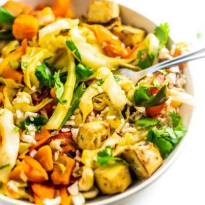 Sweet Potato Cabbage Stir Fry