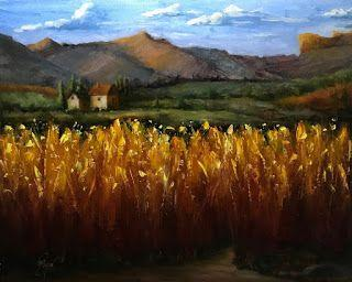 Tuscan Wheat Fields by artist Pat Meyer