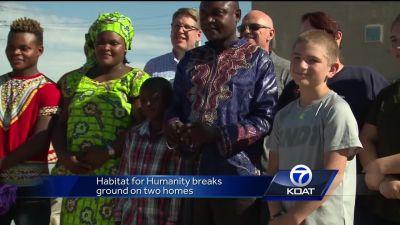 Habitat for Humanity helps two families get new homes