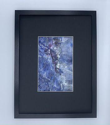 """Blue Art, Abstract Painting, Contemporary Art """"A CRACK IN THE BLUE"""" by Florida Artist Mary Ann Ziegler"""