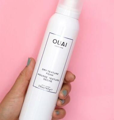 OUAI Dry Texture Wheat Protein-Infused Texturizing Foam Creates Instant Undone Texture and Hold