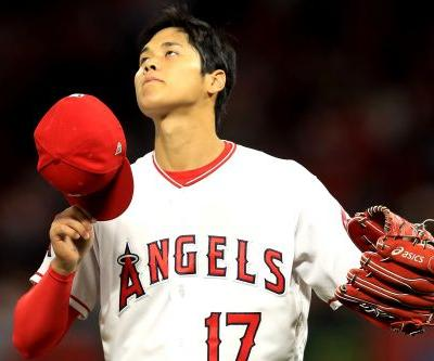 Shohei Ohtani develops blister, pulled after 2 innings vs. Red Sox