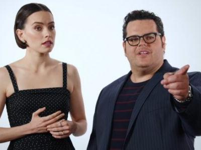 VOTD: Daisy Ridley Gets Ambushed with 'Star Wars' Spoiler Questions by Josh Gad and Other Disney Stars