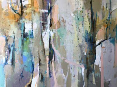 """Contemporary Abstract Mixed Media Painting """"Exploring Tomorrow"""" by Intuitive Artist Joan Fullerton"""