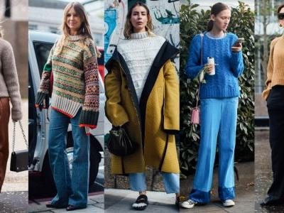 Chunky, Cozy Sweaters Were a Street Style Favorite On Day 4 of London Fashion Week