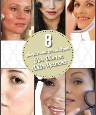 8 Simple and Fresh Look For Women With Rosacea