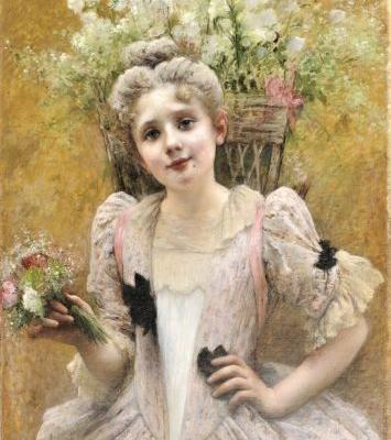 19C Young Flower Seller