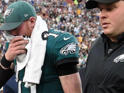 Carson Wentz ruled out for final quarter of pivotal game against Rams