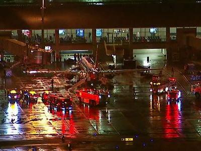 Reports of smoke forced a Southwest Airlines plane to return to John Wayne Airport after takeoff