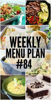 Weekly Menu Plan 84