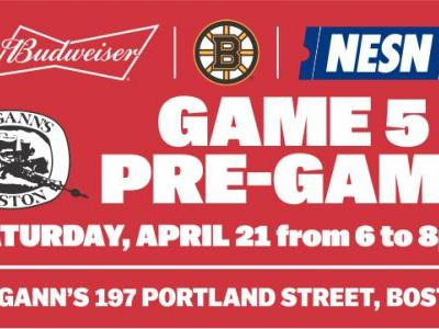 McGann's To Host Bruins Game 5 Budweiser Pre-Game Party On Saturday