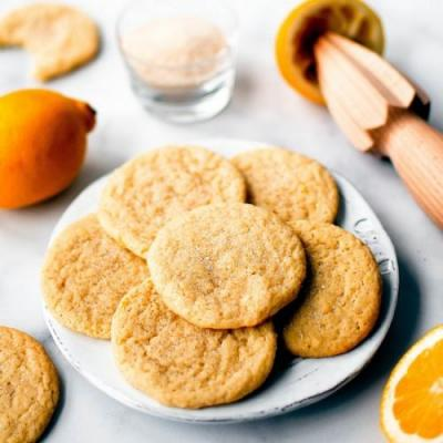 Soft and Chewy Lemon Sugar Cookies