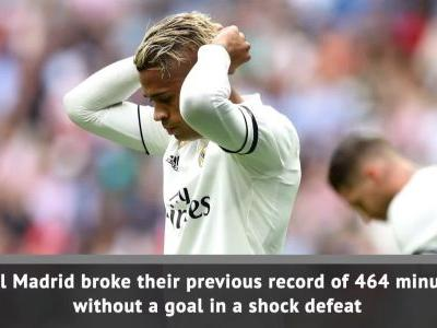 Real Madrid set record for longest goal drought in club's history
