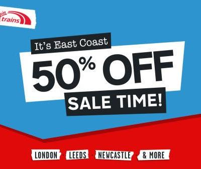 Virgin Trains: Beat Black Friday on the East Coast with Virgin Trains' half price seat sale
