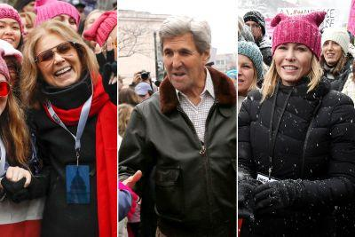 Celebrities march for women's rights in DC