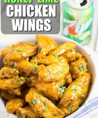 Baked Honey Lime Chicken Wings