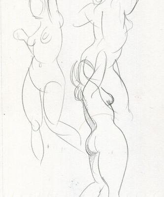 My oh my, but how time flies. A half year of figure studies, part 1