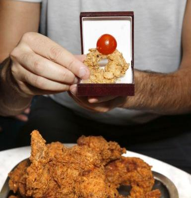 You Can Now Get Engaged With A Deep-Fried Chicken Wing Ring