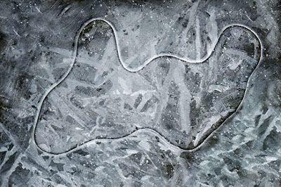 """Nature Photography, Winter Landscape, """"Creek Ice"""" by Colorado Photographer Kit Hedman, Boarding House Studio Galleries"""