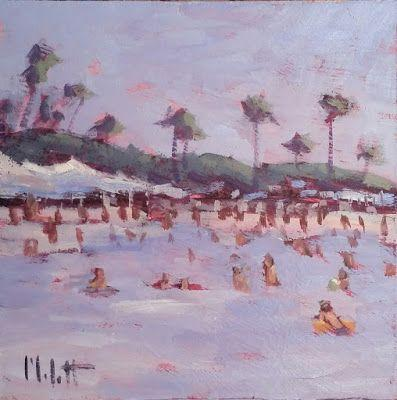 Beach Holiday Contemporary Impressionism Original Oil Painting