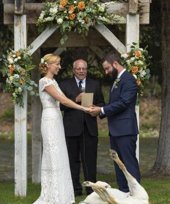 This Dog Completely Photobombed His Owner's Wedding - and This Needs to Be Framed
