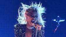 Lady Gaga Performs 'Shallow' Without Bradley Cooper At Grammys And Delivers
