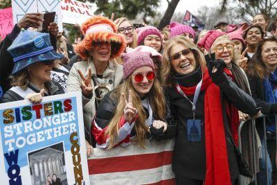 Stunning photos from inside the Women's March, which saw hundreds of thousands protesters descend on DC