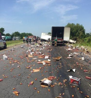 Fireball whisky spills across Arkansas highway after fiery crash