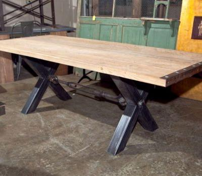 50 Unique Galvanized Metal top Dining Table Images