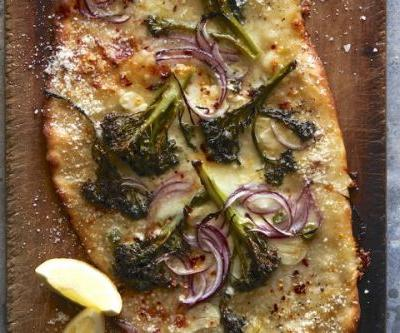 Sheet Pan Broccolini Pizza