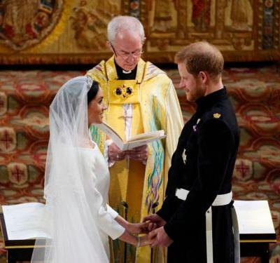 Prince Harry's first reaction to seeing Meghan Markle on their wedding day will make your heart melt