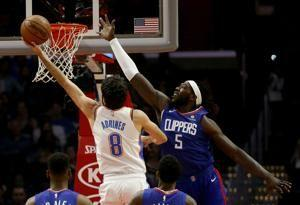 Clippers beat Thunder 108-92 for 1st win of season